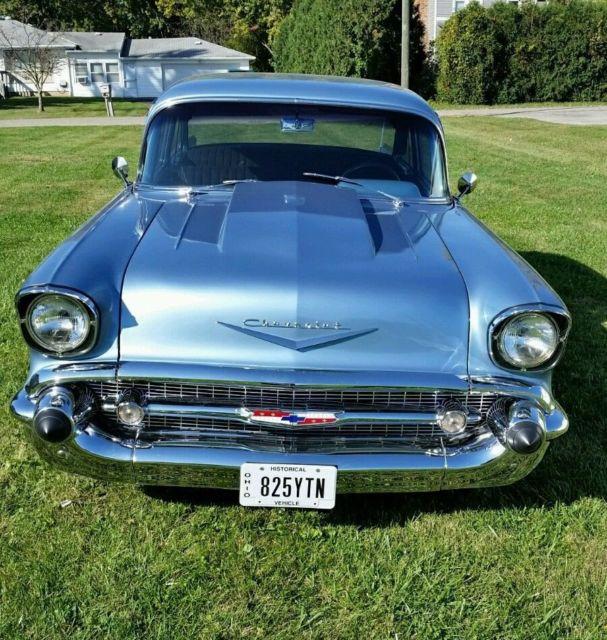 Item picture 1957 chevy 210 post 2 door bel air 57 manual for 1957 chevy 210 2 door