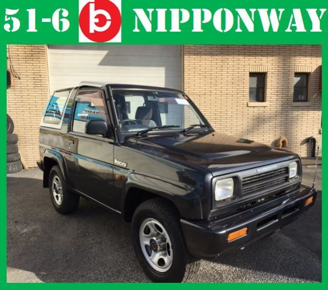 japanese import rhd 1990 daihatsu rocky toyota suv 4x4 convertible no reserve. Black Bedroom Furniture Sets. Home Design Ideas