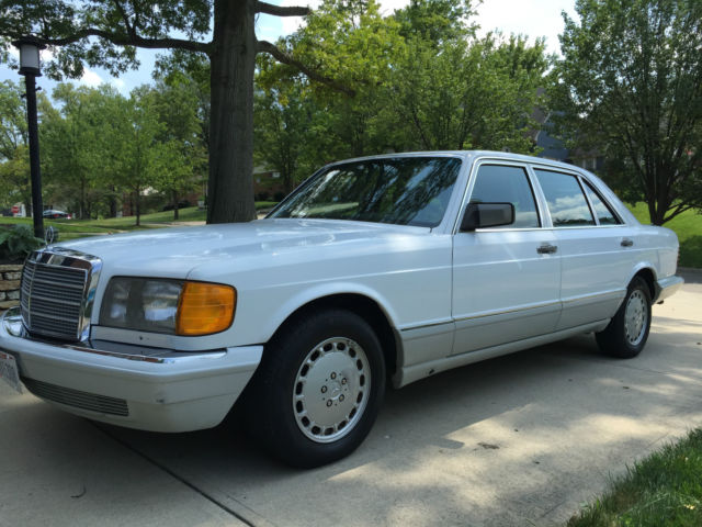 mercedes 560sel sedan 1991 white over gray superb condition for sale in cincinnati ohio. Black Bedroom Furniture Sets. Home Design Ideas