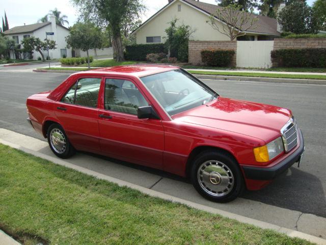 Mercedes Benz 190e 2 6 6 Cylinder 4 Door Sedan 1990 Red