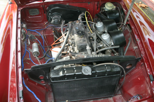 mgb 1972 roadster overdrive 4 tops wire wheels for sale in ...
