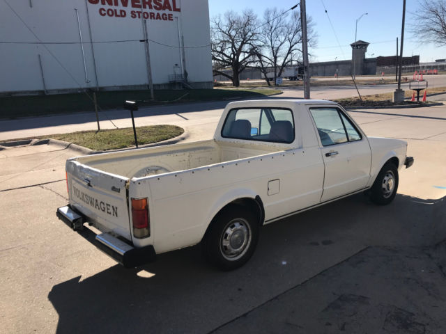 mk1 volkswagen vw diesel rabbit pickup 1 6 4 speed one owner 48k clean original. Black Bedroom Furniture Sets. Home Design Ideas