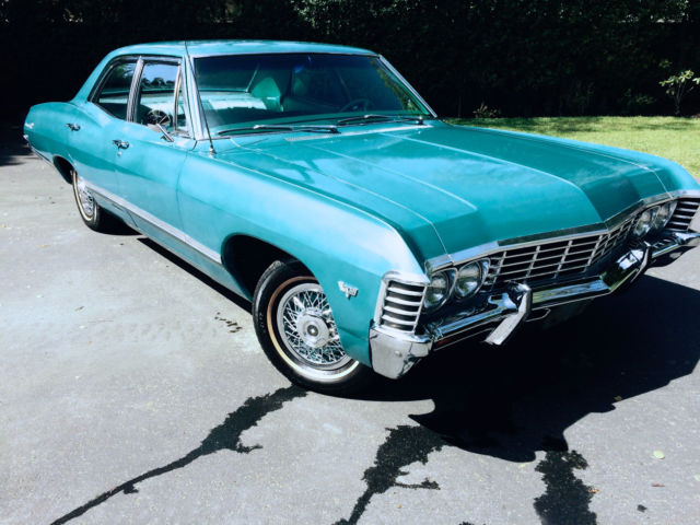 Near Mint 1967 Impala 4 Door 327 Powerglide All Orginal