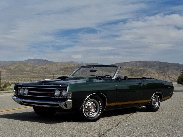NO RESERVE 1969 FORD TORINO GT CONVERTIBLE 390 S CODE 4