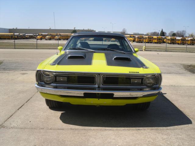 Elk Grove Dodge >> NO RESERVE 1971 Dodge Demon 340 4 speed Citron Yella Black Bucket Seat Interior for sale in Elk ...