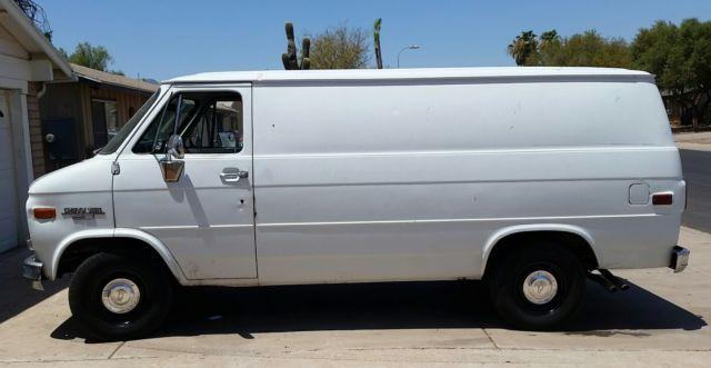 2776375cd0 No Reserve No Rust V8 350 5.7L Chevy G20 Cargo Panel Sport Van Runs great