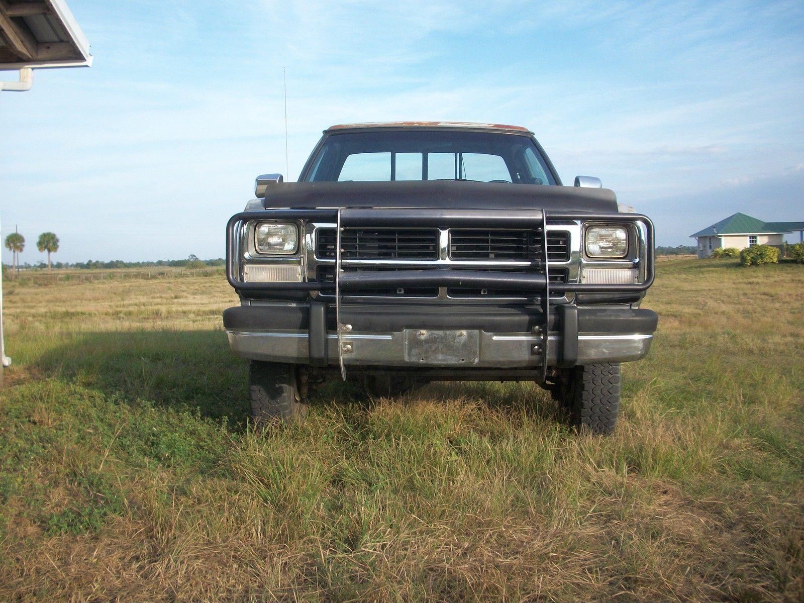 original 1992 dodge ram w250 4x4 5 speed le 5 9 ic cummins turbo diesel for sale in indiantown. Black Bedroom Furniture Sets. Home Design Ideas