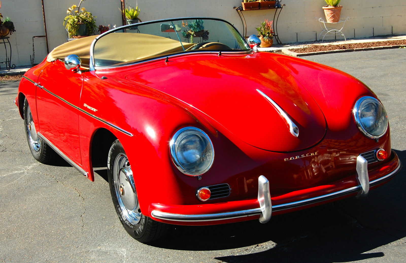 Porsche Replica 1956 356 Speedster Porsche Red For Sale