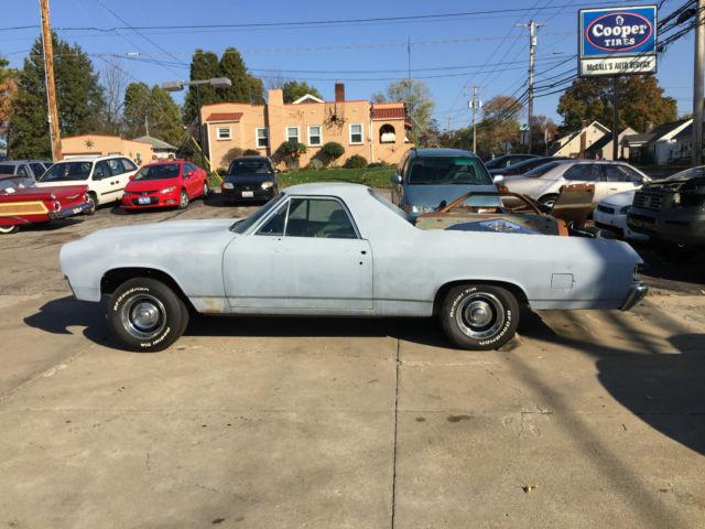 Project 1971 Chevrolet El Camino Custom with parts tach dash