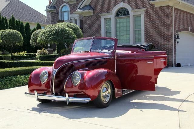 Rare 1938 ford coupe v8 4 door convertible classic street for 1938 ford 4 door sedan