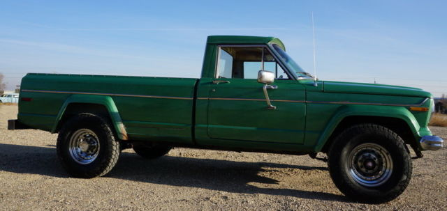 Rare 1974 Jeep J20 Pickup 4x4 3 4 Later Model Gladiator