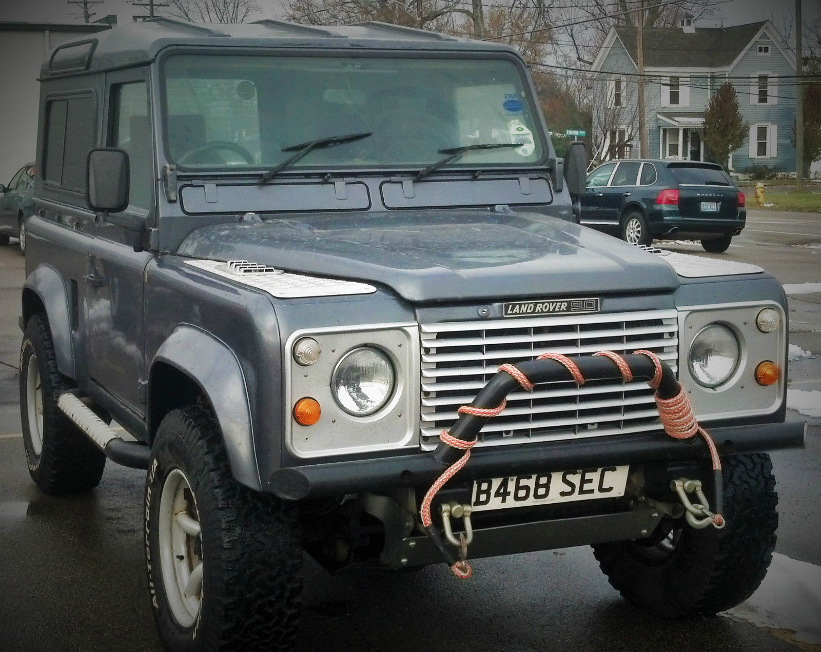 rare 1985 land rover defender 90 rhd v8 diamond plate galvanized chassis for sale in. Black Bedroom Furniture Sets. Home Design Ideas