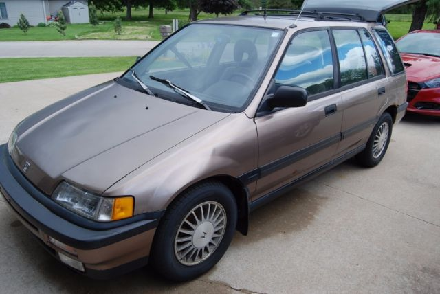 rare 1991 honda civic rt 4wd station wagon car