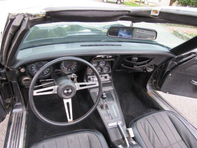 Rare Black On Black 1975 Chevy Corvette Stingray T Top