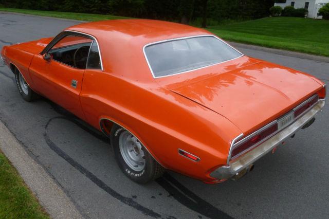 Real 1970 383 Hemi Orange Challenger R T Cheap For Sale