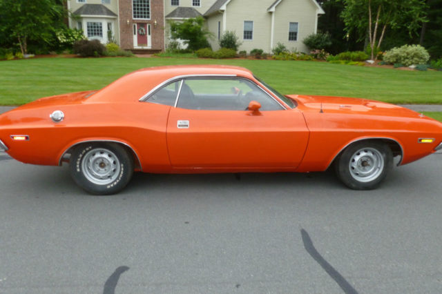 Real 1970 383 Hemi Orange Challenger R T Cheap For Sale