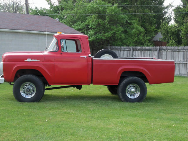 red 1959 ford f 250 4x4 for sale in pataskala ohio united states. Black Bedroom Furniture Sets. Home Design Ideas