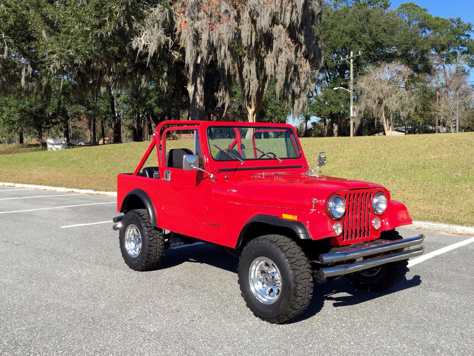Restored 1986 Cj7  Red Hot Chevy Conversion  Automatic  Rust Free  Hardtop For Sale In