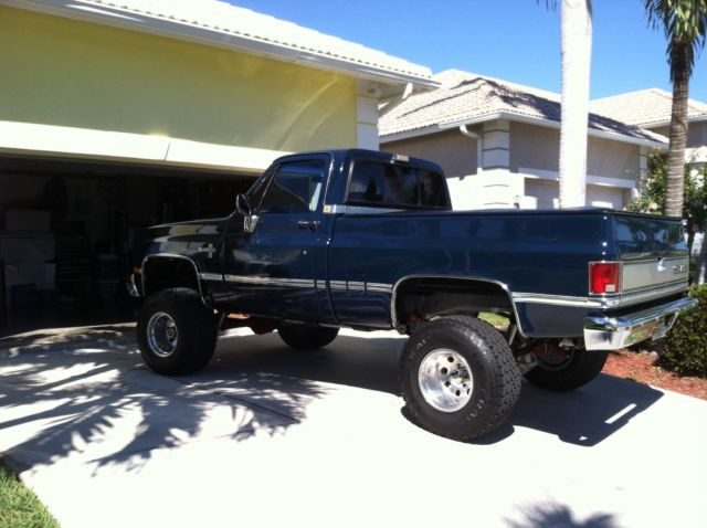 "Restored 1987 chevy 4x4 Silverado regular car short bed with 3"" lift for sale in Marco Island ..."