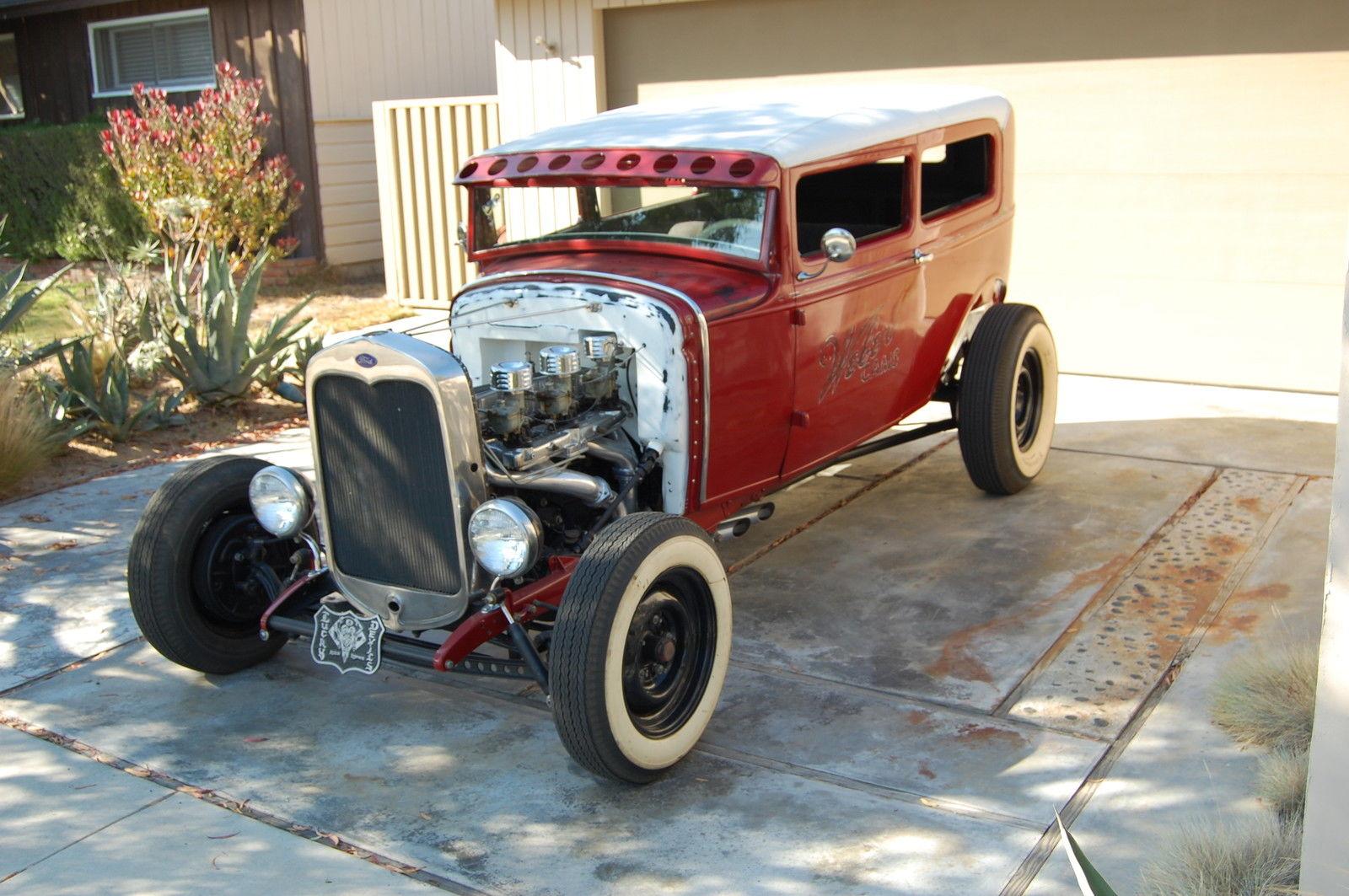 Restored Vintage 1930 Ford Model A Sedan Hot Rod 30 w/ 32 dash No ...