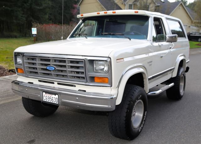 selling no revere 1986 ford bronco xlt 4x4 v8 5 8. Black Bedroom Furniture Sets. Home Design Ideas