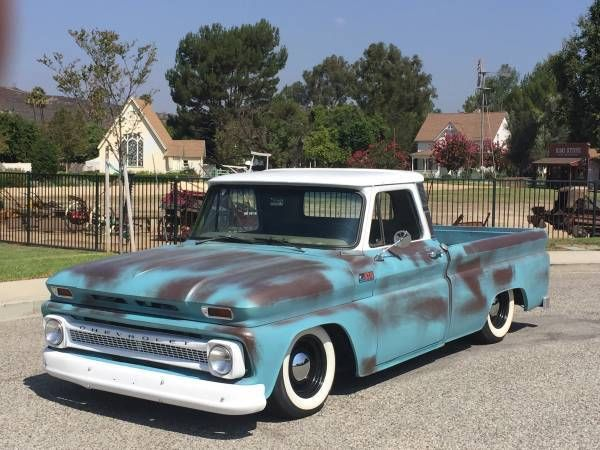 shortbed fleetside 1965 c10 fauxtina bagged classic chevy truck for sale in simi. Black Bedroom Furniture Sets. Home Design Ideas