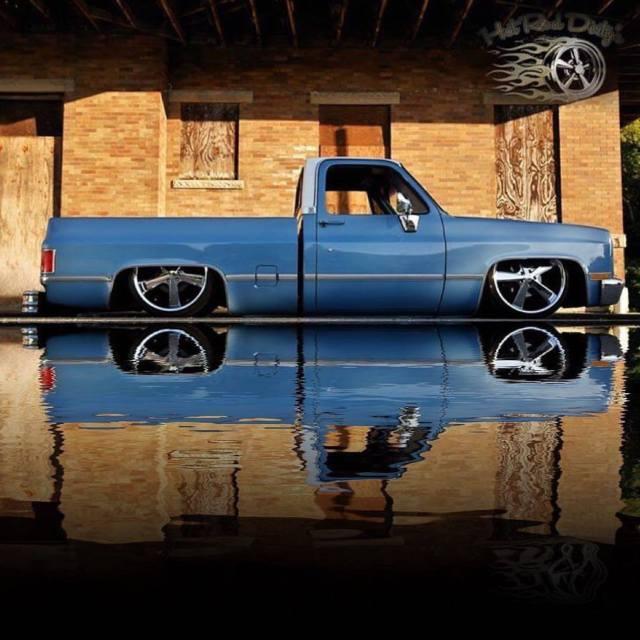 Slammed Silverado C10 Chevy Hot Rat Street Rod Patina ...