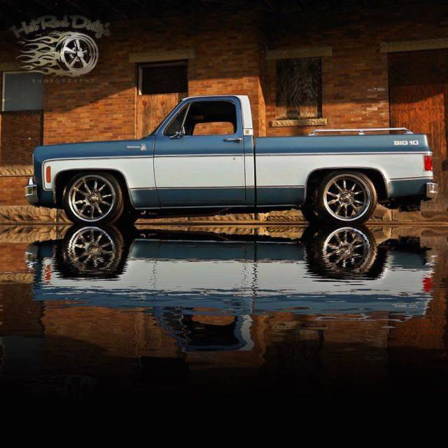 Slammed Silverado Squarebody C Chevy Hot Rat Street Rod Patina Pickup Hotrod on Sterling V8 Engine