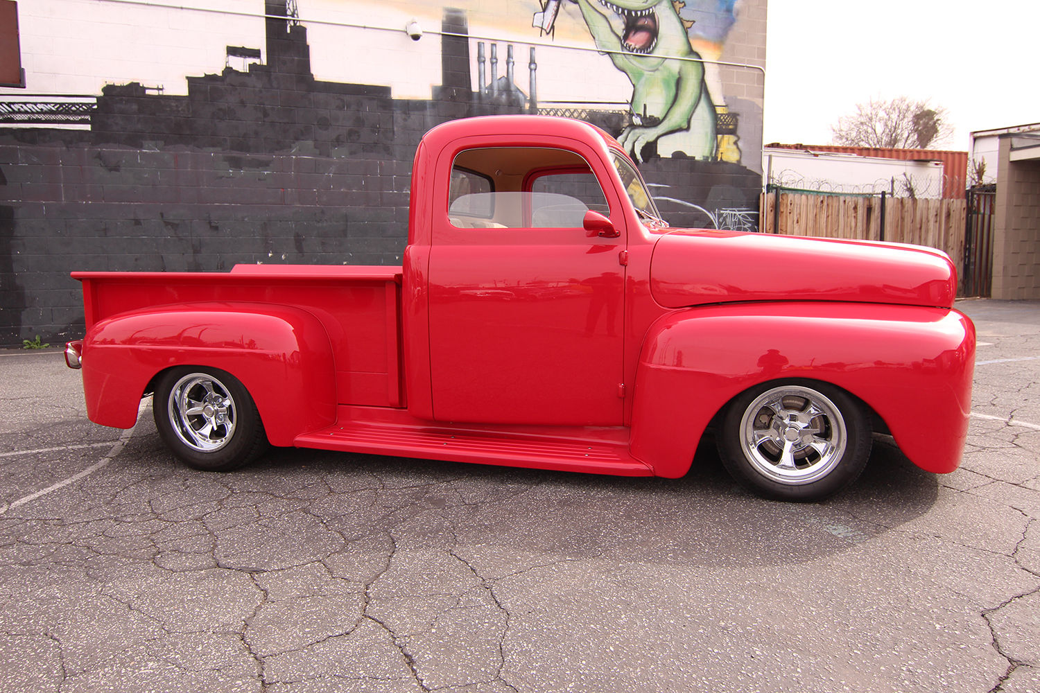 Street Rod 1951 Custom Ford F1 Pickup Red 302 Air Power