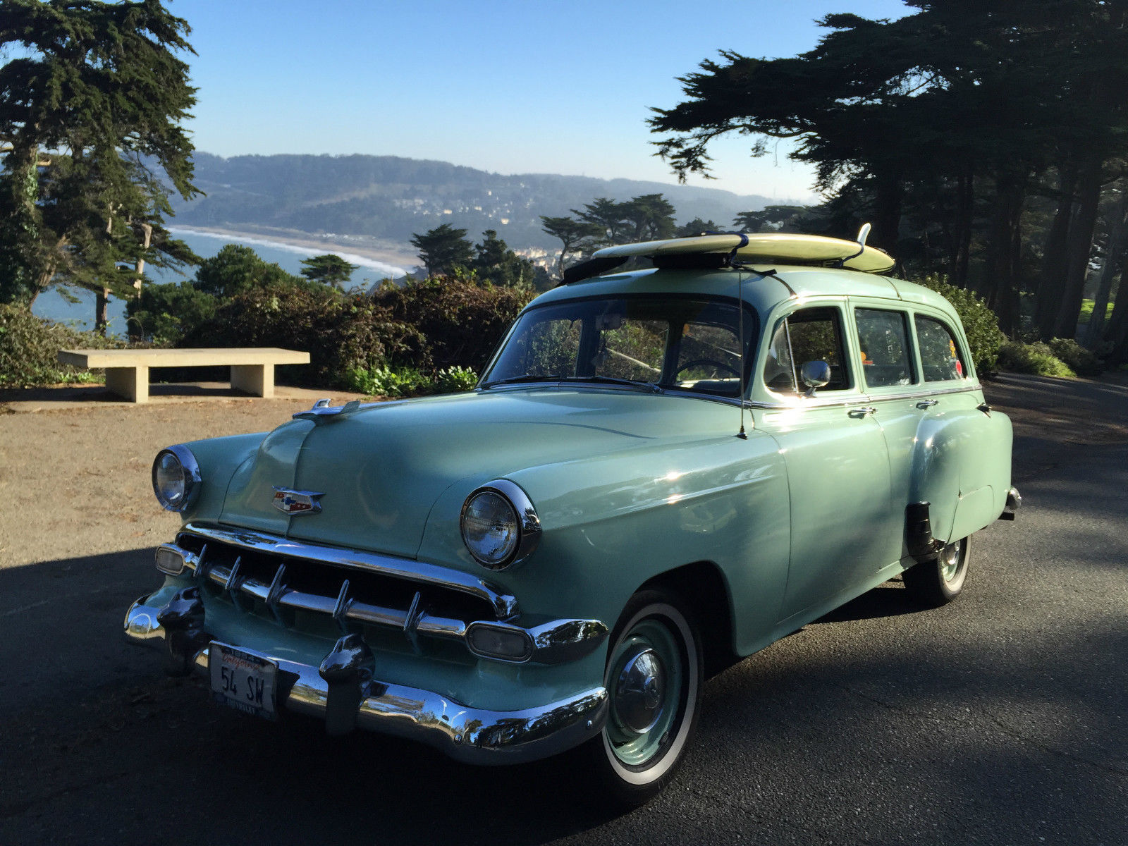 surfwagon 1954 chevy station wagon for sale in san francisco california united states. Black Bedroom Furniture Sets. Home Design Ideas
