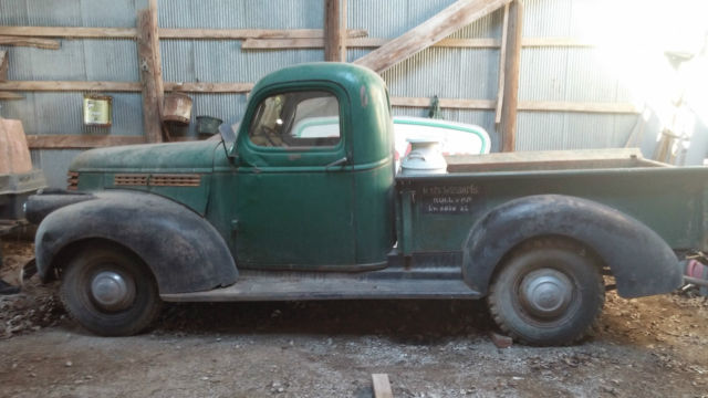 SURVIVOR BARN FIND CHEVY Truck Rare Original Pickup 1942 ...