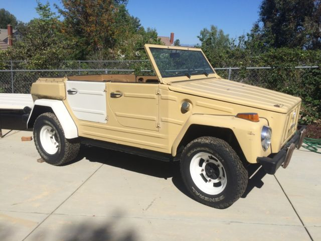 type 181 vw thing convertable with hard top for sale in simi valley california united states. Black Bedroom Furniture Sets. Home Design Ideas