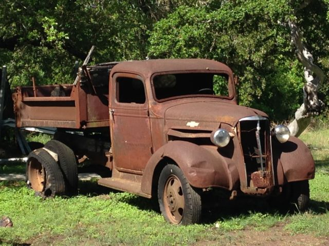 Vintage 1937 Chevy Chevrolet Dump Truck 1 1 2 Ton Other
