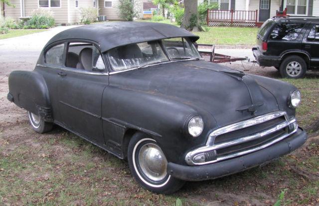 Vintage 1951 Chevy Fleetline Deluxe 2 Door 86000 Original Miles