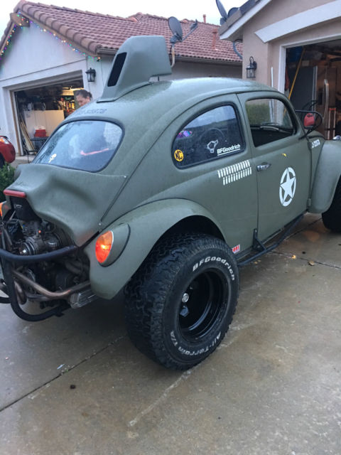 Vw Baja Bug Manual Army Green Lifted Rear No Rust