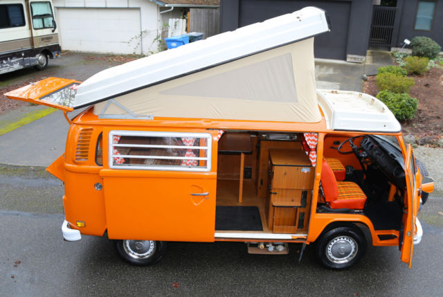 westfalia pop top camper bus van type  bay window   fuel injected vw rv  sale