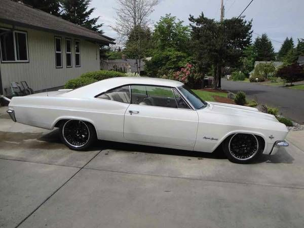 white 1965 impala ss pro touring project for sale in vancouver washington united states. Black Bedroom Furniture Sets. Home Design Ideas